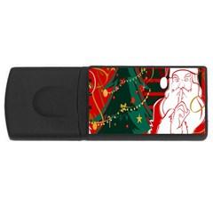 Santa Clause Xmas USB Flash Drive Rectangular (1 GB)