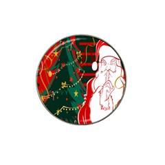 Santa Clause Xmas Hat Clip Ball Marker (10 Pack)
