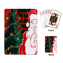 Santa Clause Xmas Playing Card