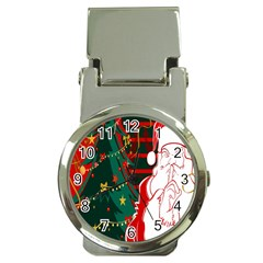 Santa Clause Xmas Money Clip Watches