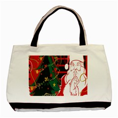 Santa Clause Xmas Basic Tote Bag