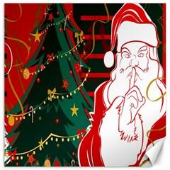 Santa Clause Xmas Canvas 20  x 20