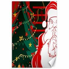 Santa Clause Xmas Canvas 20  x 30