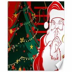 Santa Clause Xmas Canvas 11  X 14