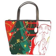 Santa Clause Xmas Bucket Bags