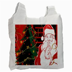 Santa Clause Xmas Recycle Bag (One Side)