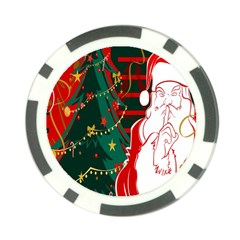 Santa Clause Xmas Poker Chip Card Guard (10 pack)