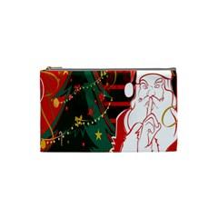 Santa Clause Xmas Cosmetic Bag (small)