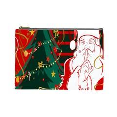 Santa Clause Xmas Cosmetic Bag (Large)