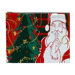 Santa Clause Xmas Cosmetic Bag (xl)