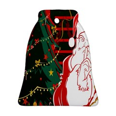 Santa Clause Xmas Bell Ornament (Two Sides)