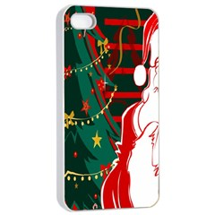 Santa Clause Xmas Apple Iphone 4/4s Seamless Case (white)