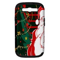 Santa Clause Xmas Samsung Galaxy S Iii Hardshell Case (pc+silicone)