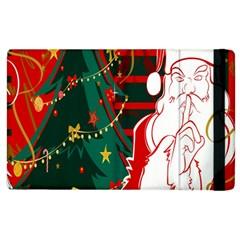 Santa Clause Xmas Apple Ipad 3/4 Flip Case