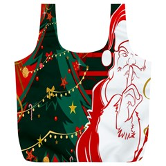 Santa Clause Xmas Full Print Recycle Bags (l)