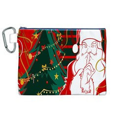 Santa Clause Xmas Canvas Cosmetic Bag (xl)