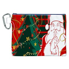 Santa Clause Xmas Canvas Cosmetic Bag (xxl)
