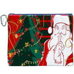 Santa Clause Xmas Canvas Cosmetic Bag (XXXL)