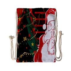Santa Clause Xmas Drawstring Bag (Small)
