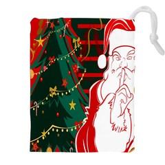 Santa Clause Xmas Drawstring Pouches (XXL)