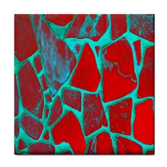 Red Marble Background Tile Coasters