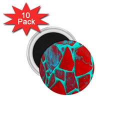 Red Marble Background 1 75  Magnets (10 Pack)