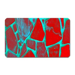 Red Marble Background Magnet (rectangular)