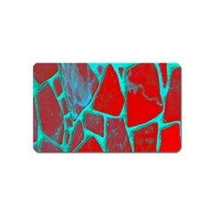 Red Marble Background Magnet (Name Card)