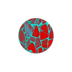 Red Marble Background Golf Ball Marker (4 pack)