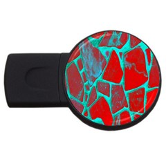 Red Marble Background USB Flash Drive Round (1 GB)
