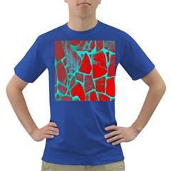 Red Marble Background Dark T-Shirt