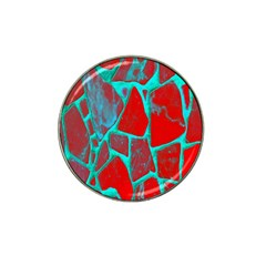 Red Marble Background Hat Clip Ball Marker (10 pack)