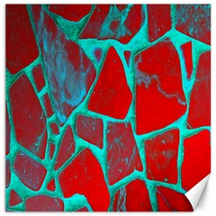 Red Marble Background Canvas 16  x 16