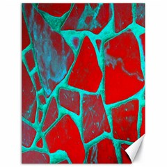 Red Marble Background Canvas 18  X 24