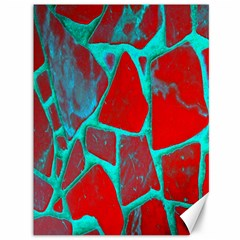 Red Marble Background Canvas 36  x 48