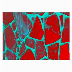 Red Marble Background Large Glasses Cloth