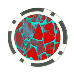 Red Marble Background Poker Chip Card Guard