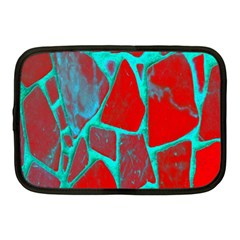 Red Marble Background Netbook Case (Medium)