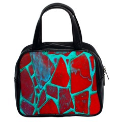 Red Marble Background Classic Handbags (2 Sides)