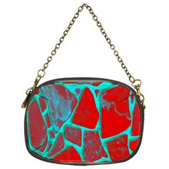Red Marble Background Chain Purses (One Side)