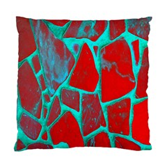 Red Marble Background Standard Cushion Case (Two Sides)
