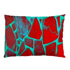 Red Marble Background Pillow Case