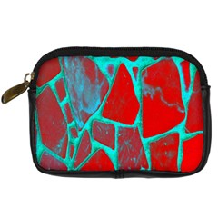Red Marble Background Digital Camera Cases
