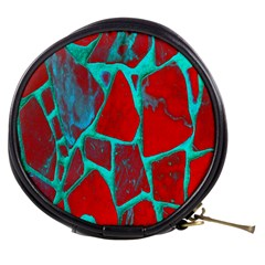 Red Marble Background Mini Makeup Bags