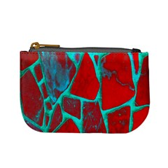 Red Marble Background Mini Coin Purses