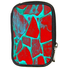 Red Marble Background Compact Camera Cases