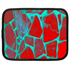 Red Marble Background Netbook Case (XL)