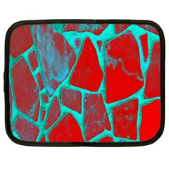 Red Marble Background Netbook Case (XXL)