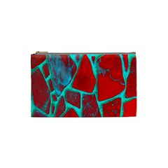 Red Marble Background Cosmetic Bag (Small)