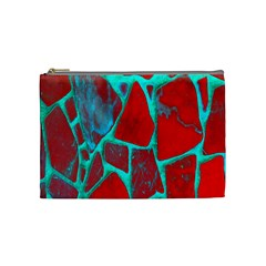 Red Marble Background Cosmetic Bag (medium)
